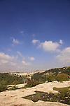 Israel, Jerusalem Mountains, the flat rock on Mount Tzuba