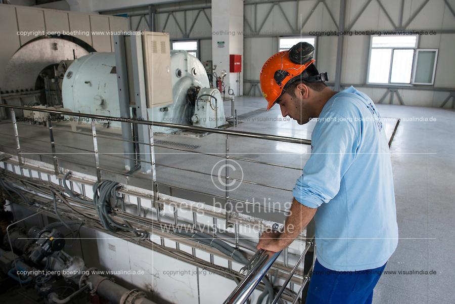 TURKEY, Izmir, cement factory Baticim, turbine for energy generation from process heat / TUERKEI, Izmir, Zementfabrik Baticim, mit Finanzierung der KfW wurden Energie Effizienz Massnahmen umgesetzt, Turbine zur Stromerzeugung aus Prozesswaerme