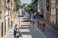 breakaway group rolling through town<br /> <br /> Stage 14: San Vicente de la Barquer to Oviedo (188km)<br /> La Vuelta 2019<br /> <br /> ©kramon