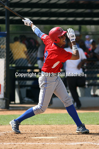 Jeremy Ovalle participates in the Dominican Prospect League showcase at the New York Yankees academy on January 19,2013 in Boca Chica, Dominican Republic.
