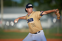 Carter Foss (12) during the WWBA World Championship at Terry Park on October 11, 2020 in Fort Myers, Florida.  Carter Foss, a resident of San Diego, California who attends Scripps Ranch High School, is committed to Brigham Young.  (Mike Janes/Four Seam Images)