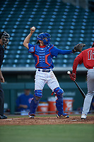 AZL Cubs 1 catcher Raymond Pena (6) during an Arizona League game against the AZL Angels on June 24, 2019 at Sloan Park in Mesa, Arizona. AZL Cubs 1 defeated the AZL Angels 12-0. (Zachary Lucy / Four Seam Images)