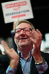 © Joel Goodman - 07973 332324 . 27/09/2016 . Liverpool , UK . LEN MCCLUSKEY applauds Angela Rayner's Education speech . The third day of the Labour Party Conference at the ACC Liverpool . Photo credit : Joel Goodman
