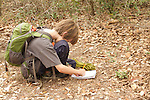 Owen drawing in his nature journal during a nature walk with Carolyn Rose at Goose Island State Park