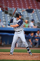Brooklyn Cyclones designated hitter Jeff Diehl (24) at bat during the first game of a doubleheader against the Connecticut Tigers on September 2, 2015 at Senator Thomas J. Dodd Memorial Stadium in Norwich, Connecticut.  Brooklyn defeated Connecticut 7-1.  (Mike Janes/Four Seam Images)