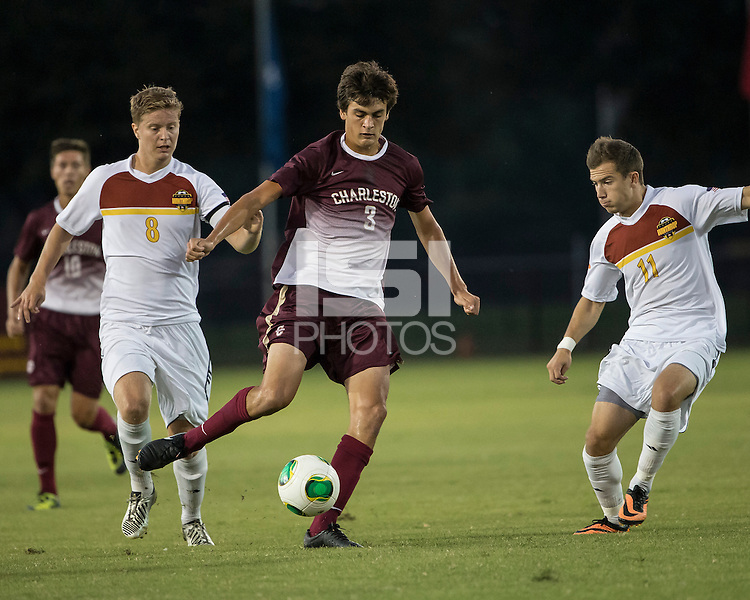 The Winthrop University Eagles played the College of Charleston Cougars at Eagles Field in Rock Hill, SC.  College of Charleston broke the 1-1 tie with a goal in the 88th minute to win 2-1.  Tucker Coons (3), Magnus Thorsson (8), Patrick Barnes (11)