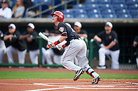 Ball State Cardinals Roman Baisa (3) at bat during a game against the Alabama State Hornets on February 18, 2017 at Spectrum Field in Clearwater, Florida.  Ball State defeated Alabama State 3-2.  (Mike Janes/Four Seam Images)