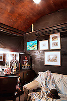 dressing room on train wagon