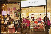A newly opened Kate Spade store in Sanlitun, Beijing, China. 11-Jan-2014