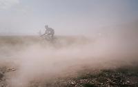 Artur Ershov (RUS/Gazprom-RusVelo) held hostage in a dust storm<br /> <br /> 92nd Schaal Sels 2017 <br /> 1 Day Race: Merksem > Merksem (188km)
