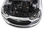High angle engine detail of a  .2013 Hyundai Genesis Coupe 2.0T