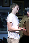 "Lucas Hedges during the Opening Night Curtain Call bows for ""The Waverly Gallery"" at the Golden Theatre on October 25, 2018 in New York City."