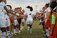 SAN ANTONIO, TX - OCTOBER 22, 2010: The Southeastern Louisiana University Lions vs. the University of Texas at San Antonio Roadrunners Women's Soccer at Roadrunner Field. (Photo by Jeff Huehn)