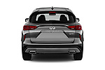 Straight rear view of a 2019 Infiniti QX50 LUXE AWD 5 Door SUV stock images