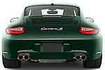 Straight rear view of a 2009 Porsche Carrera Coupe S