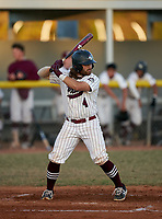 Braden River Pirates catcher Brady Jernigan (4) bats during a game against the Venice Indians on February 25, 2021 at Braden River High School in Bradenton, Florida. (Mike Janes/Four Seam Images)