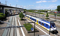 Nederland Amsterdam - 2020 . Trein bij station Sloterdijk.    Foto Berlinda van Dam / HH / ANP
