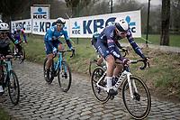 Senne Leysen (BEL/Alpecin-Fenix)<br /> <br /> 76th Omloop Het Nieuwsblad 2021<br /> ME(1.UWT)<br /> 1 day race from Ghent to Ninove (BEL): 200km<br /> <br /> ©kramon