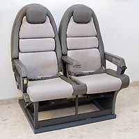 BNPS.co.uk (01202 558833)<br /> Pic: Humbert&Ellis/BNPS<br /> <br /> Hot seat's - Concorde's most requested seats could be yours...for £2,500.<br /> <br /> Two front row seats for a Concorde jet the likes of Princess Diana and Kylie Minogue sat on are set to fly at auction.<br /> <br /> The prestige seats were for positions 1C and 1D on a British Airways Concorde supersonic plane that regularly crossed the Atlantic in under three hours.<br /> <br /> It is documented that among the famous posteriors to grace the specially designed leather and fabric upholstered seats were those of Princess Diana, Kylie Minogue and Michael Jackson.<br /> <br /> As well as the seats, an original slimline hostess cabin trolley with 12 interior trays from the legendary aircraft is also being sold off.