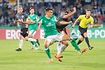 12.09.2020, Ernst-Abbe-Sportfeld, Jena, GER, DFB-Pokal, 1. Runde, FC Carl Zeiss Jena vs SV Werder Bremen<br /> <br /> <br /> Maximilian Eggestein (Werder Bremen #35) Maximilian Oesterhelweg (Carl Zeiss Jena #05)<br /> kein foil <br /> <br />  <br /> <br /> <br /> Foto © nordphoto / Kokenge