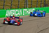 Verizon IndyCar Series<br /> Iowa Corn 300<br /> Iowa Speedway, Newton, IA USA<br /> Sunday 9 July 2017<br /> Alexander Rossi, Andretti Herta Autosport with Curb-Agajanian Honda, Tony Kanaan, Chip Ganassi Racing Teams Honda<br /> World Copyright: F. Peirce Williams<br /> LAT Images