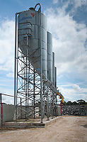Feed hoppers for storing feed for dairy cattle Flintshire, North Wales.