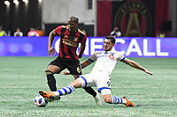 Atlanta, Georgia - Saturday, April 28, 2018. Atlanta United defeated the Montreal Impact, 4-1, in front of a crowd of 45,039 at Mercedes-Benz Stadium.