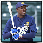 #OTD On This Day, June 6, 2006, Austin Jackson of the Charleston River Dogs played in a game at Fluor Field in Greenville, South Carolina. Jackson later played nine years in the majors with Detroit, Cleveland and others and was the Rookie of the Year runner-up in 2010. He did not play in 2019 and is unsigned for 2020, but hoping to return. (Tom Priddy/Four Seam Images) #MiLB #OnThisDay #MissingBaseball #nobaseball #stayathome #minorleagues #minorleaguebaseball #Baseball #SallyLeague #AloneTogether