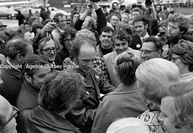 La Visite de Pierre-Elliot Trudeau a Quebec ,<br />  30 septembre 1972<br /> <br /> Photographe : Photo Moderne<br /> - agence Quebec Presse