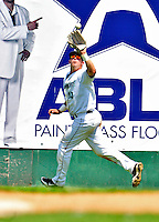 15 July 2010: Vermont Lake Monsters' outfielder Wade Moore in action against the Aberdeen IronBirds at Centennial Field in Burlington, Vermont. The Lake Monsters rallied in the bottom of the 9th inning to defeat the IronBirds 7-6 notching their league leading 20th win of the 2010 NY Penn League season. Mandatory Credit: Ed Wolfstein Photo