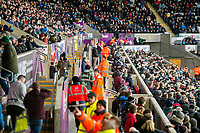 Stewards East <br /> Re: Behind the Scenes Photographs at the Liberty Stadium ahead of and during the Premier League match between Swansea City and Bournemouth at the Liberty Stadium, Swansea, Wales, UK. Saturday 25 November 2017