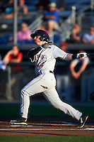 Mahoning Valley Scrappers third baseman Gavin Collins (44) at bat during a game against the Auburn Doubledays on July 19, 2016 at Falcon Park in Auburn, New York.  Mahoning Valley defeated Auburn 9-1.  (Mike Janes/Four Seam Images)