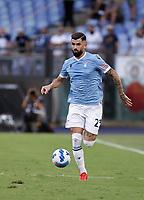 Elseid Hysaj of Lazio 28th August 2021; Olympic Stadium, Rome, Italy; Serie A football, SS Lazio versus AC Spezia : Raul Moro of Lazui