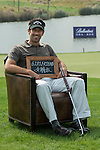 """Eduardo de la Riva was asked by Ballantine's at the BMW Masters to describe how he stays true to himself; his answer is shown. Ballantine's, who recently announced their new global marketing campaign, """"Stay True, Leave An Impression"""", is a sponsor at the BMW Masters, which takes place from the 24-27 October at Lake Malaren Golf Club in Shanghai.  Photo by Andy Jones / The Power of Sport Images for Ballantines."""