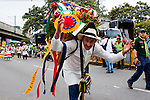 """Colombian annual parade """"Silleteros"""" in Medellin"""