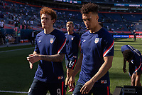 DENVER, CO - JUNE 3: Josh Sargent, Antonee Robinson of the United States during a game between Honduras and USMNT at EMPOWER FIELD AT MILE HIGH on June 3, 2021 in Denver, Colorado.