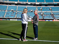 Tom Sermanni, Anna Signeul.  The USWNT defeated Scotland, 4-1, during a friendly at EverBank Field in Jacksonville, Florida.