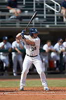 Willie Burger (28) of the Penn State Nittany Lions at bat against the Xavier Musketeers at Coleman Field at the USA Baseball National Training Center on February 25, 2017 in Cary, North Carolina. The Musketeers defeated the Nittany Lions 10-4 in game one of a double header. (Brian Westerholt/Four Seam Images)