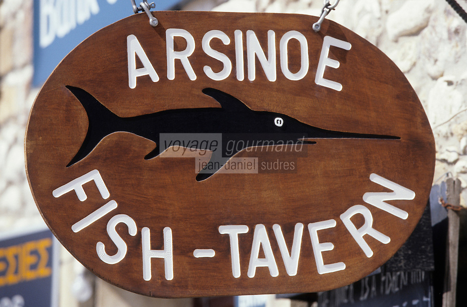 Europe/Chypre/Polis : Enseigne restaurant
