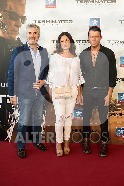 Singer Encarna Salazar attends to the premiere of Terminator Genesis at Kinepolis Cinema in Madrid, Spain. July 08, 2015.<br />  (ALTERPHOTOS/BorjaB.Hojas)