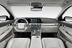 Stock photo of straight dashboard view of 2019 Hyundai Nexo - 5 Door SUV Dashboard