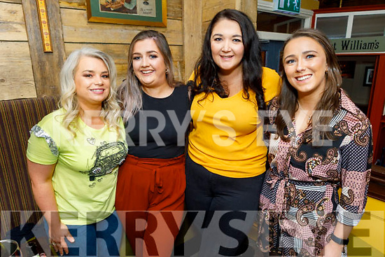 Joan Gainey, Eimear Keane, Michelle Foran and Helen Scannell from Kerry, 4 newly qualified nurses, who are enjoying a well earned night out in the Brogue Inn on Friday.