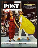 Saturday Evening Post cover, September 21, 1963, Women's Fashion. Photo by John G. Zimmerman.