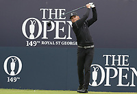 14th July 2021; The Royal St. George's Golf Club, Sandwich, Kent, England; The 149th Open Golf Championship, practice day; Joe Long (ENG) (a) hits his tee shot on the first hole