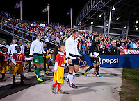 Christie Rampone, Hope Solo. The USWNT tied New Zealand, 1-1, at an international friendly at Crew Stadium in Columbus, OH.