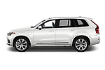 Car driver side profile view of a 2018 Volvo XC90 T8 Twin Engine Plug-in Inscription 5 Door SUV
