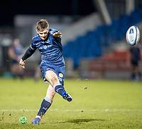 8th January 2021; AJ Bell Stadium, Salford, Lancashire, England; English Premiership Rugby, Sale Sharks versus Worcester Warriors; AJ Macginty of Sale Sharks kicks a conversion