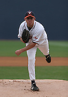 Matt Packer of the Virginia Cavaliers vs. the Miami Hurricanes:  March 24th, 2007 at Davenport Field in Charlottesville, VA.  Photo By Mike Janes/Four Seam Images