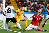 Mahmoud Dahoud of Germany , Daniel Iversen of Denmark , Victor Nelsson of Denmark <br /> Udine 17-06-2019 Stadio Friuli <br /> Football UEFA Under 21 Championship Italy 2019<br /> Group Stage - Final Tournament Group A<br /> Germany - Denmark  <br /> Photo Cesare Purini / Insidefoto