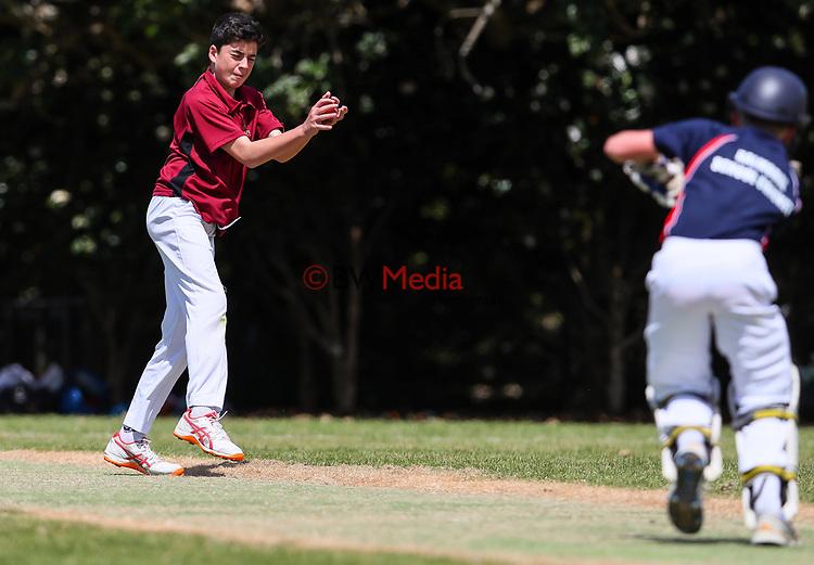 Kings School Cricket v Balmoral, Melville Park, Auckland, Tuesday 23 October 2018. Photo: Simon Watts/www.bwmedia.co.nz